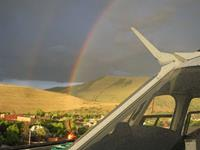Helicopter Photo - Rainbow over Missoula
