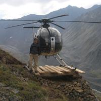 Helicopter Photo, My little pad in Alaska